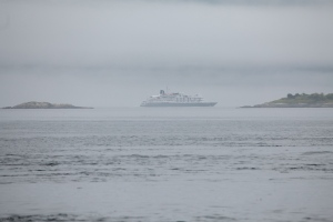 Cruise ship in Johnstone Strait