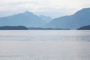 Looking down Blackfish Sound